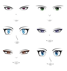 Anime faces vector image vector image