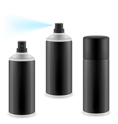Black spray cans vector