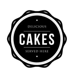 Cakes vintage stamp vector