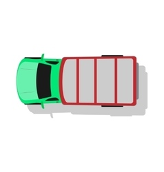 Car van top view flat design vector