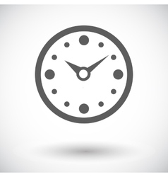 Clock flat icon vector image vector image