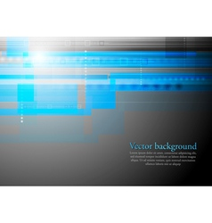 Colourful blue tech backdrop vector image vector image