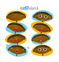 cute african american baby boy emotions set vector image
