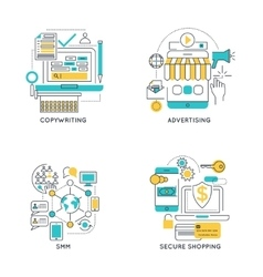 Digital marketing linear compositions vector