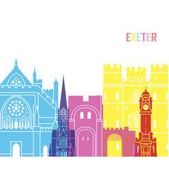 Exeter skyline pop vector