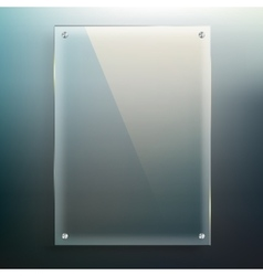 Glass frame at blur background vector image