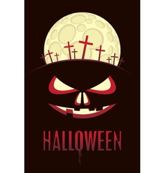 halloween moon vector image vector image