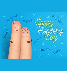 happy friendship day poster vector image vector image