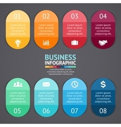 infographics labels and stickers Template vector image