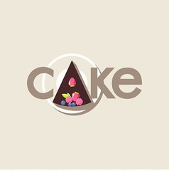 logo with cake vector image