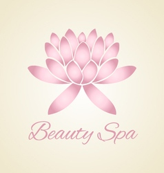 Lotus flower abstract logo design vector