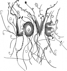 love modern text vector image vector image