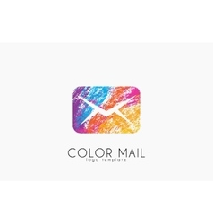 Mail logo Color mail logo design Creative logo vector image