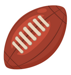 Rugby ball icon cartoon style vector