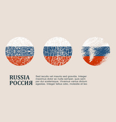 russia flag design concept vector image vector image