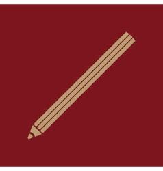 The pencil icon pencil symbol flat vector