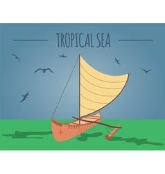 Tropical sea graphic template vector