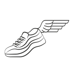 Tennis runner shoes isolated icon vector