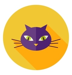 Cat face circle icon vector