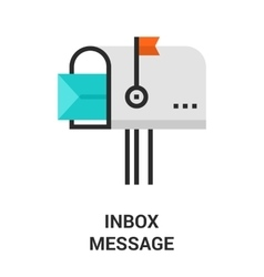 inbox message icon vector image