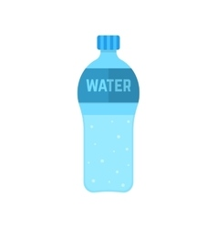 Bottle of water isolated on white background vector