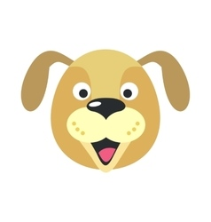 Dog face in flat design vector