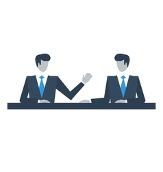 Business people talking over idea vector image