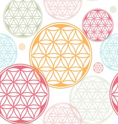 Seamles flower of life seed theme vector