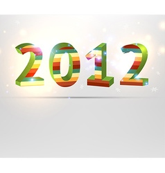 2012 striped christmas font vector