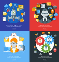 Flat design concept for application development vector