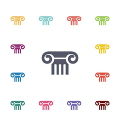 Column flat icons set vector