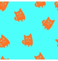 Cute cats seamless patterm vector