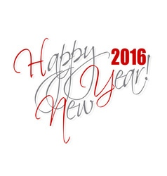2016 happy new year hand lettering card or vector