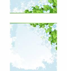 grunge flowers frame vector image