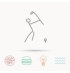 Golf club icon golfing sport sign vector