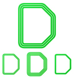 Green letter d logo design set vector