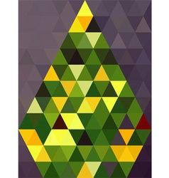 Green pyramids vector