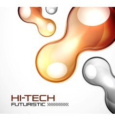Glossy bubble abstract background vector