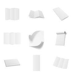 Business office blank mockups set vector