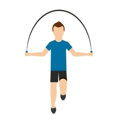 Man jump rope isolated icon design vector