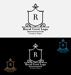 Royal crest logo perview vector