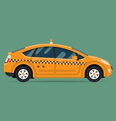 Eco taxi icon vector