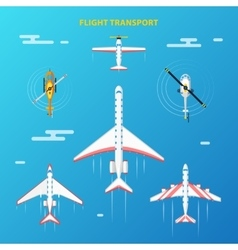 Air Transport Airport Elements Set vector image