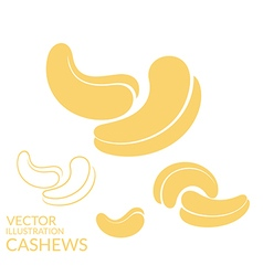 Cashews Icon set vector image vector image