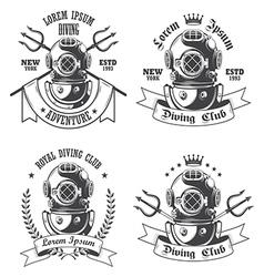 Diving emblem vector