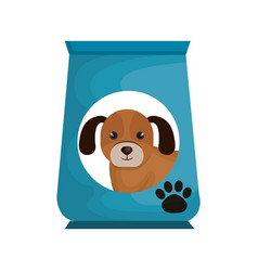 Dog food bag icon vector