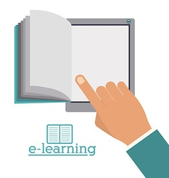 e-learning design vector image