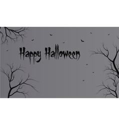 Flat backgrounds halloween dry tree vector