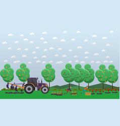 Gardening concept in flat vector
