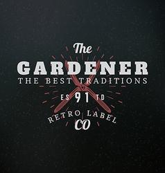 Gardening Scissors Vintage Retro Design Elements vector image vector image